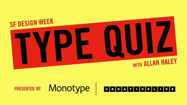 san francisco design week typographic quiz with allan haley