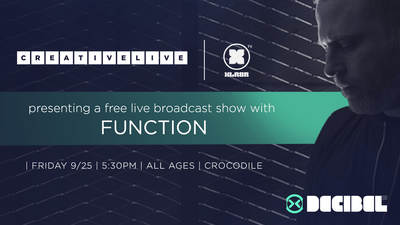 CreativeLive and XLR8R Present Decibel Live Broadcast Show with Function