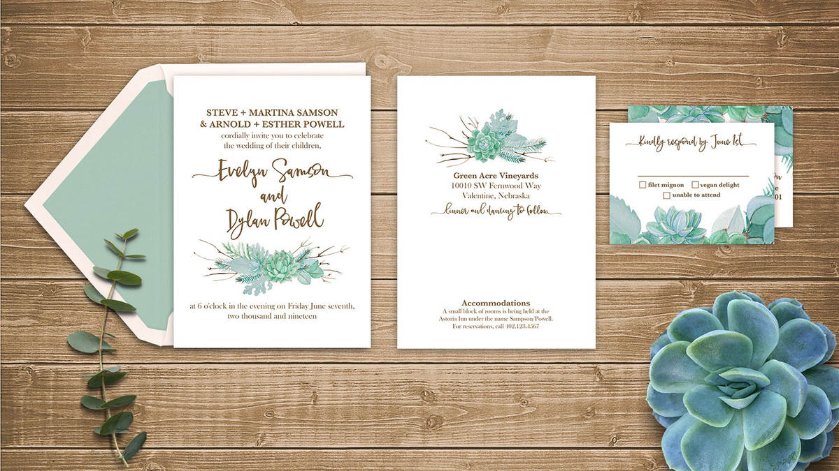 designing wedding invitations and more