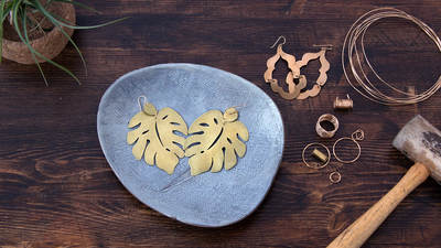 Foundations in Metalsmithing: Statement Earrings