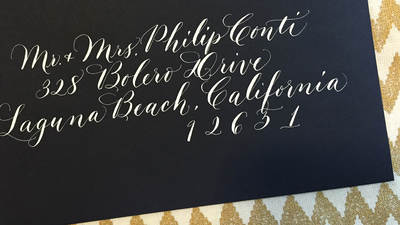 Using Calligraphy for Addressing Envelopes