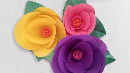 Making miniature paper flora from how to make paper flowers step by how to make paper flowers mightylinksfo